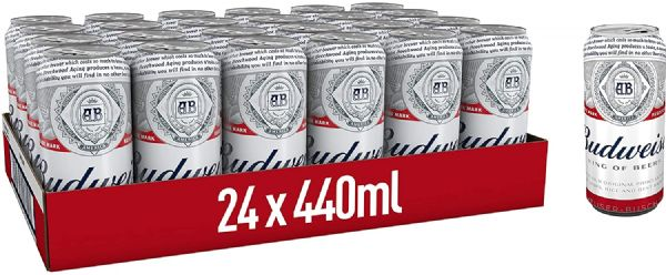 Budweiser Lager 24 x 440ml Cans